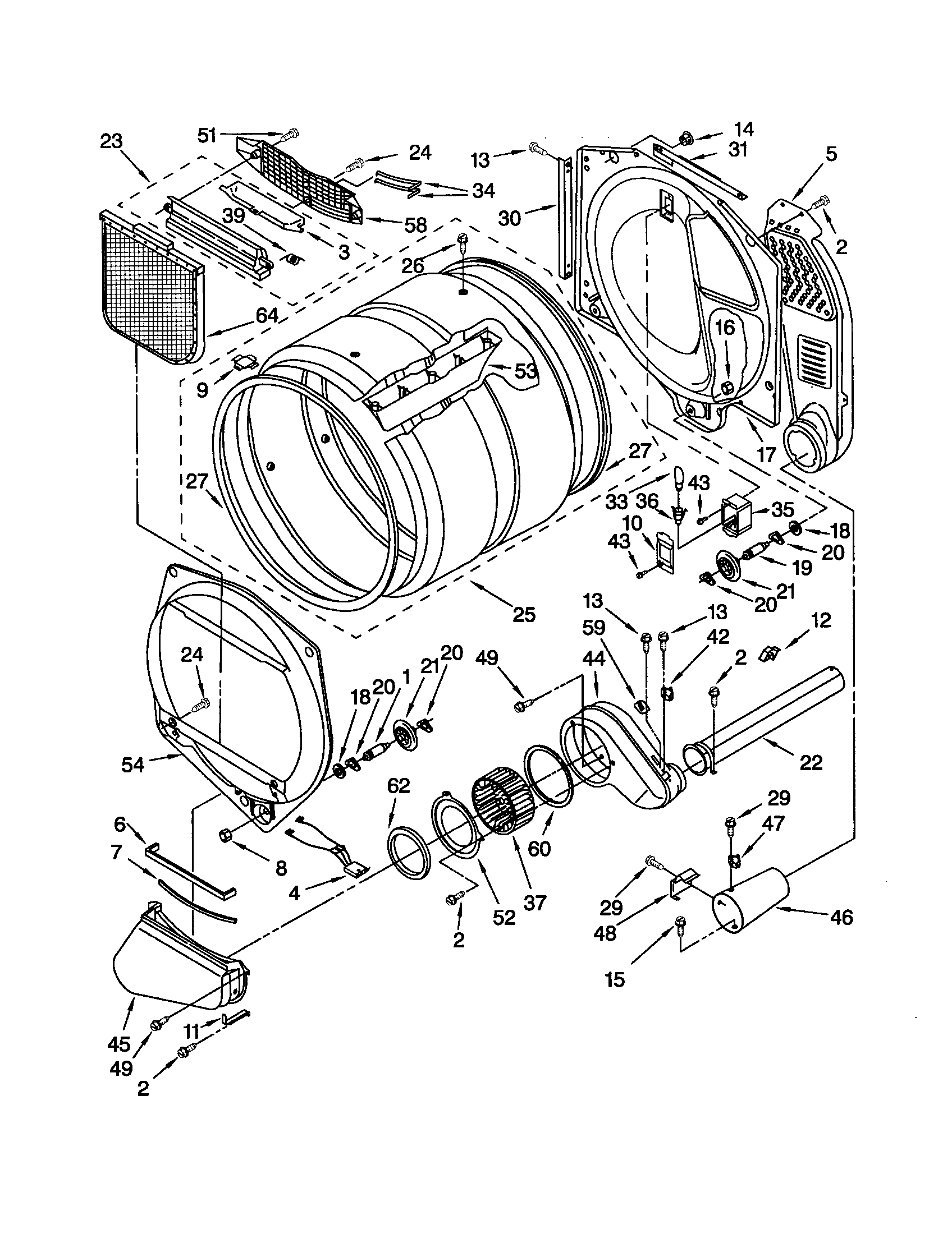 Gas Dryer Wiring Diagram