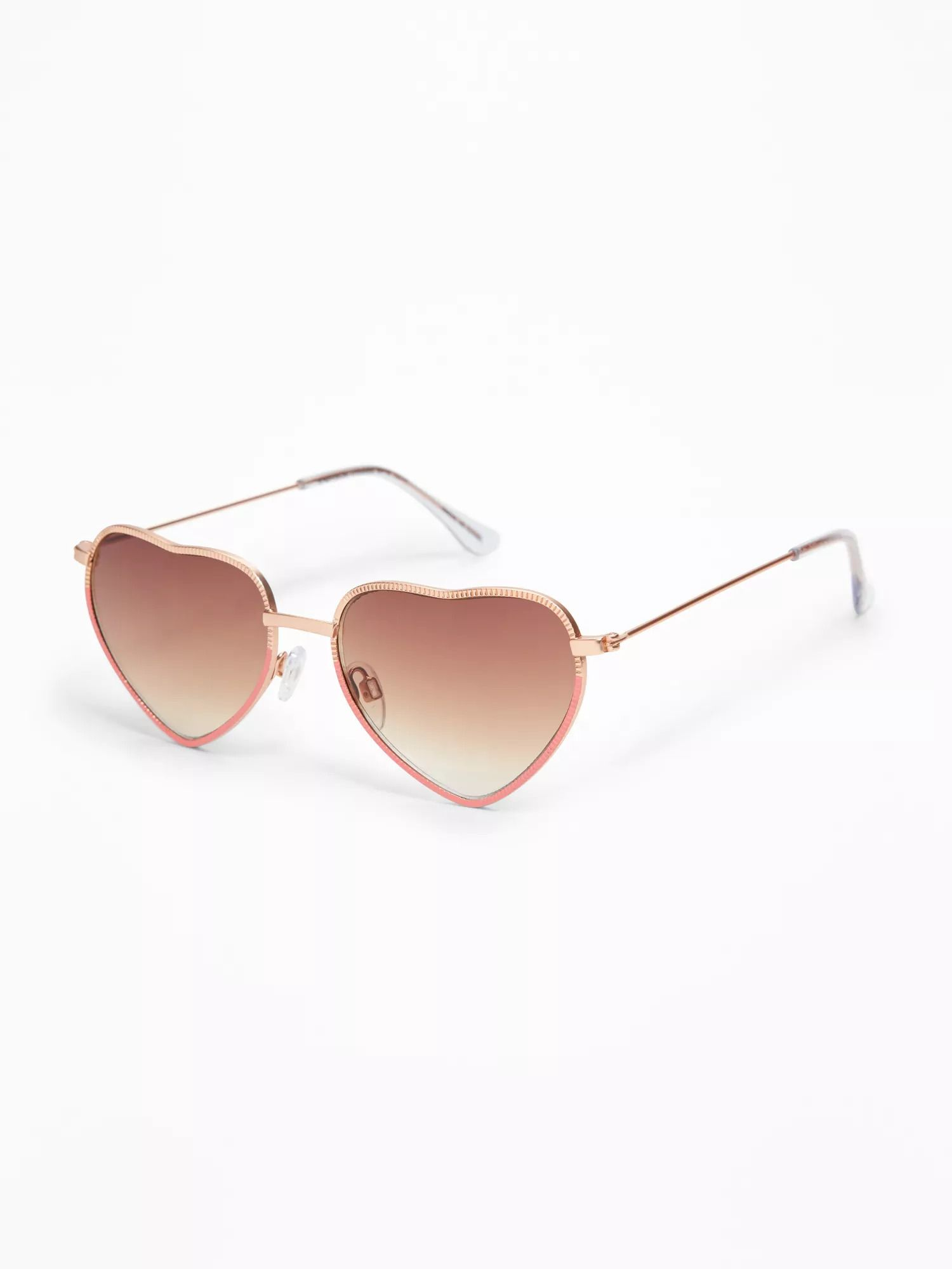 72275cf81 Old Navy: Two-Tone Heart-Shaped Sunglasses - Rose Gold | Accessories ...