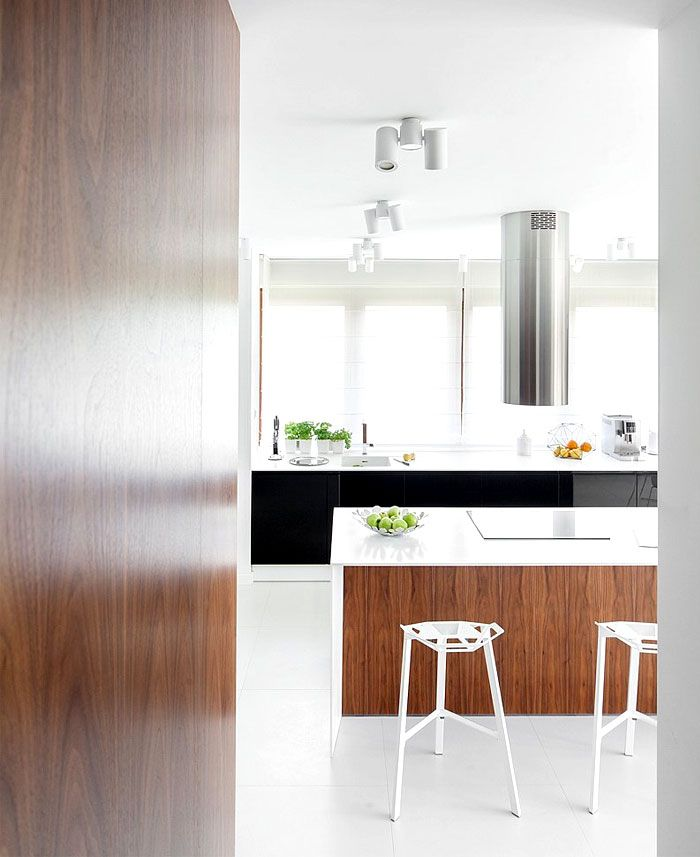 modern house interiors%0A Natural Warmth of Walnut Veneer Used in D   House Interior