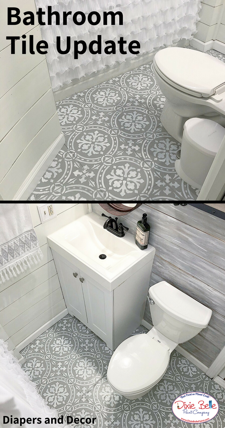update your bathroom tile with dixie belle paint company these rh pinterest com