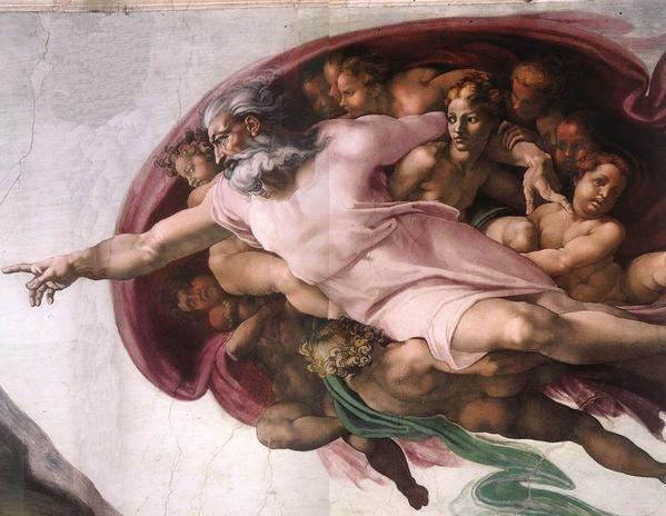 Representation 1512 Michel Ange Dieu Detail Plafond Chapelle