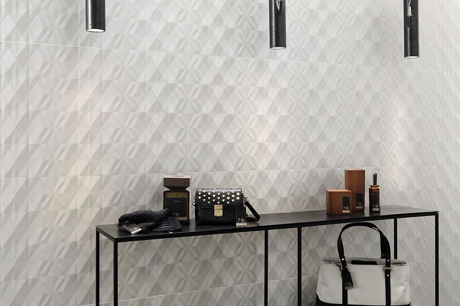 Ceramic Walls With A Sculptural Look: Alluring Design Relief Spectacular  Three Dimensional Cladding Creates
