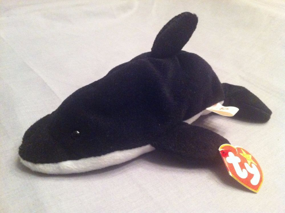 78407784ec9 TY Beanie Babies 1993 Splash the Whale Retired PVC Pellets and Intact Hang  Tag  Ty