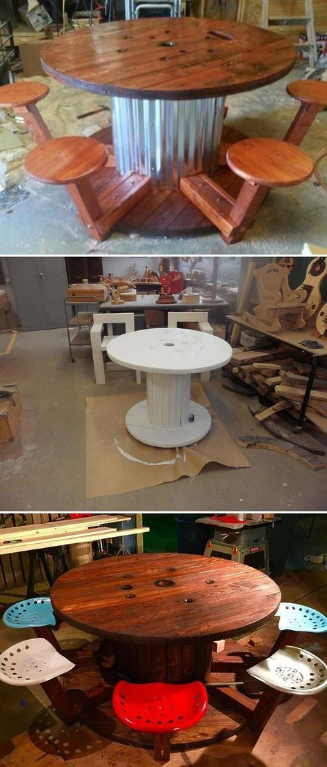25+ projects for wire spool - woodwork - United States #cablespooltables