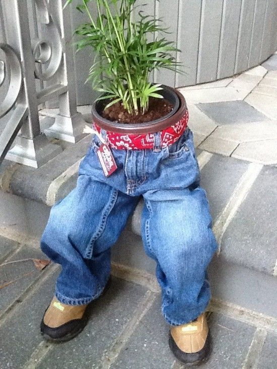 How To Make These Denim Jeans Planters
