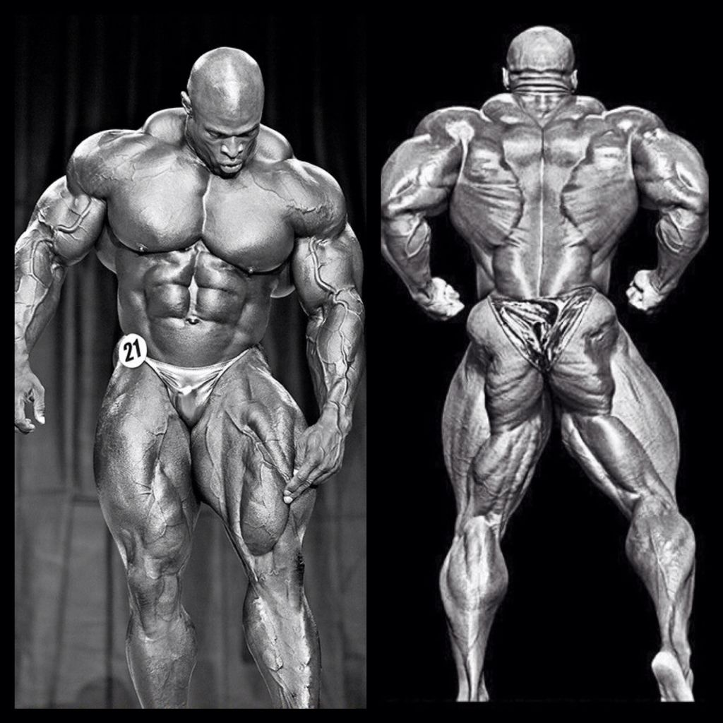 Ronnie Coleman 8 time Mr Olympia. From front to back the dude is ...