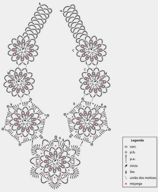 Gargantilla Mandalas Crochet Patron - Patrones Crochet | JOYERIA EN ...