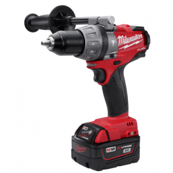 "Milwaukee 18V M18 Cordless Fuel 1/2"" Hammer Drill with 2 XC Lithium-Ion Batteries"