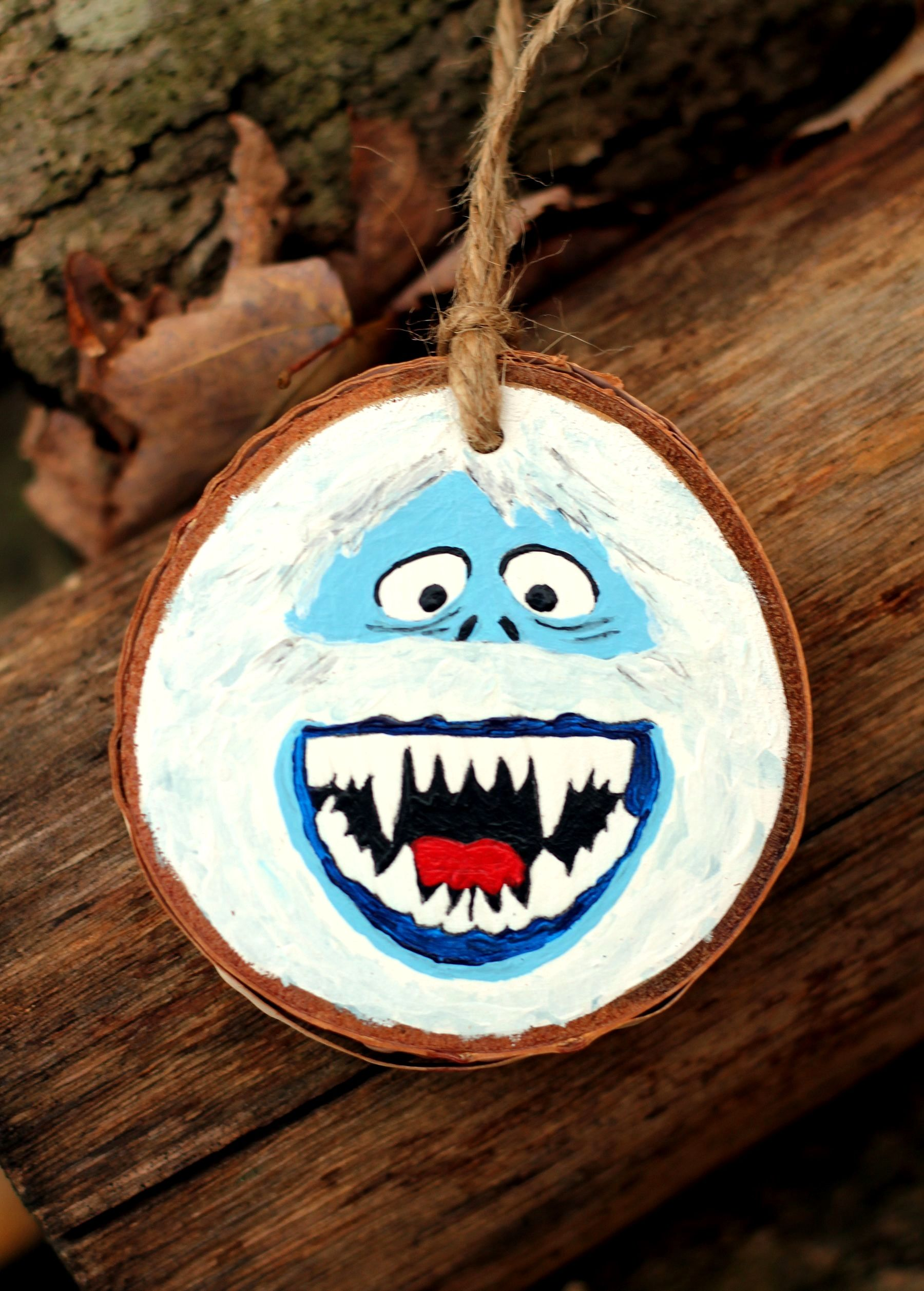 Abominable Snowman Ornaments Trick Christmas Ornament Crafts Wood Christmas Ornaments Christmas Ornaments To Make