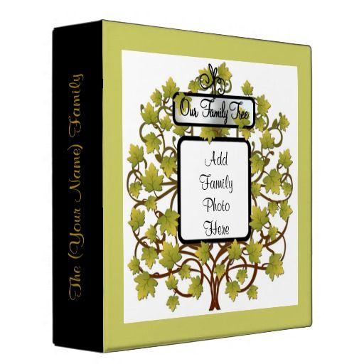 FAMILY TREE HEIRLOOM GENEALOGY PHOTO ALBUM 3 RING BINDER