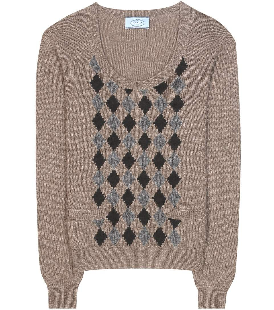 mytheresa.com - Argyle cashmere sweater - Luxury Fashion for Women ...
