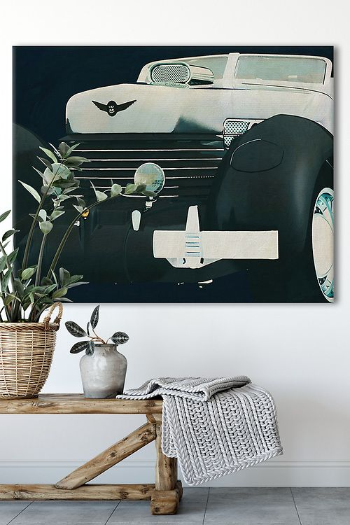 Interior Idea with an Iconic Car on canvas | Fine Art Imagery by Jan Keteleer