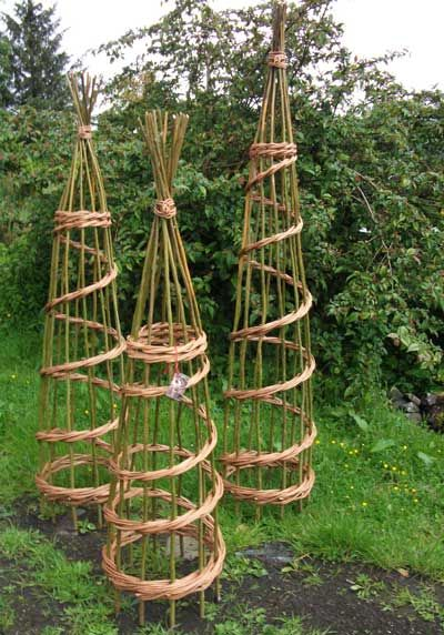 Willow Craft Designs Plant Supports. Could Be Good For Garden Or Farm  Weddings Just Thread