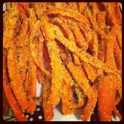 carrot fries- made em with panko!