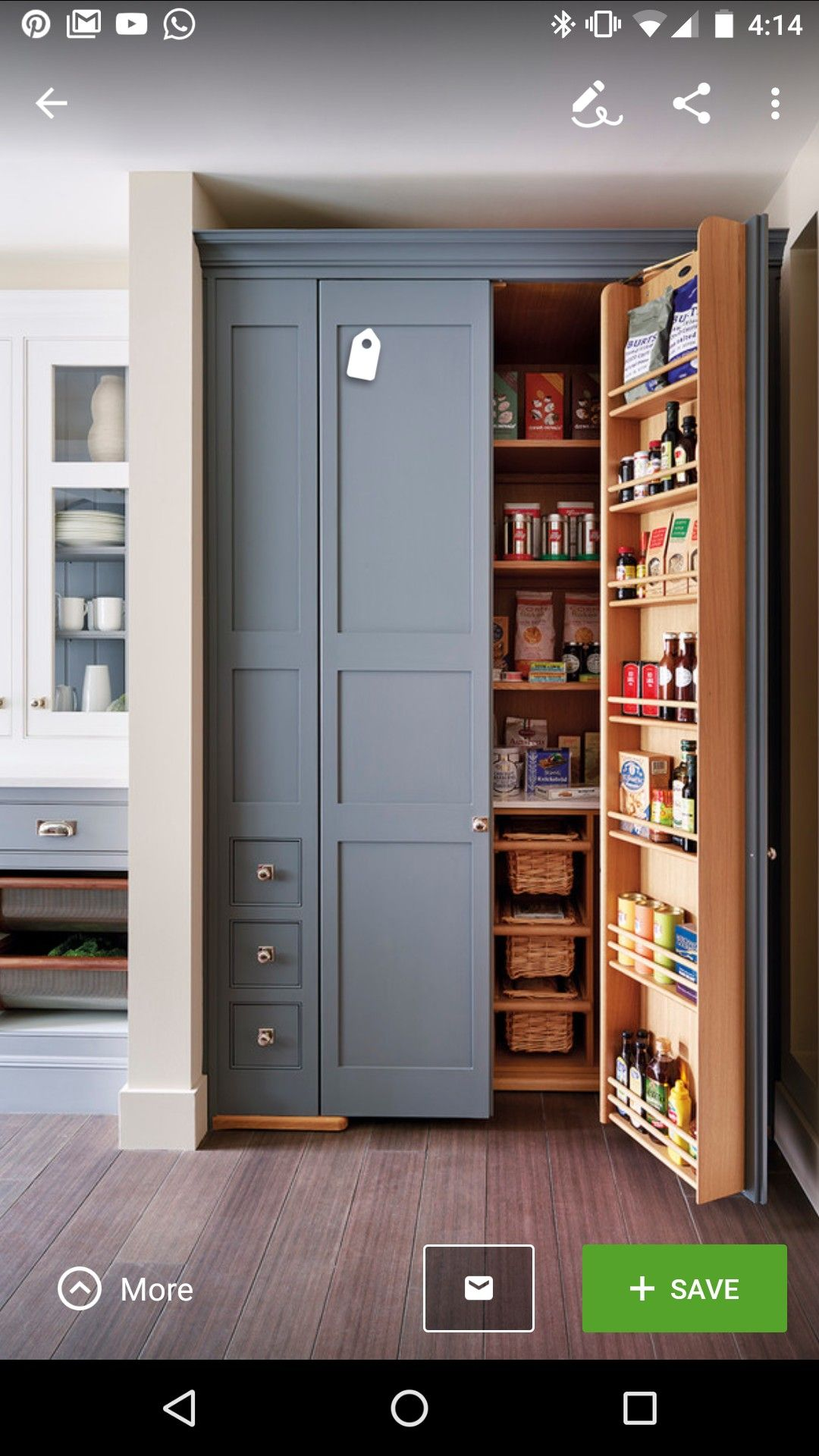 Food pantry storage on door | Riggs Inspiration Board | Pinterest ...
