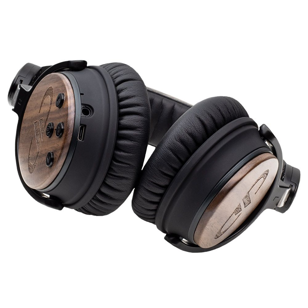 95ff96d3dd9 DD Audio DXBT-05 Wireless Active Noise Canceling Headphones with walnut wood  housing. - up to 12 hours of battery life - adjustable padded headband and  ...