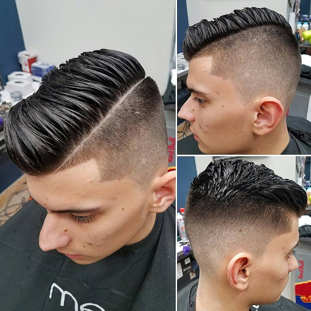 Over comb haircut fade photo fotos