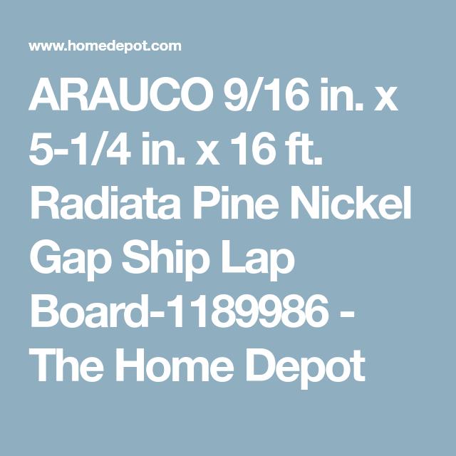 ARAUCO 9/16 in  x 5-1/4 in  x 16 ft  Radiata Pine Nickel Gap