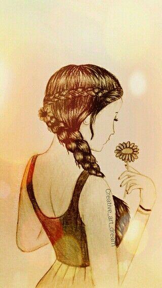 Dibujo Dibujos Dibujos Hermosos Chica De Espaldas