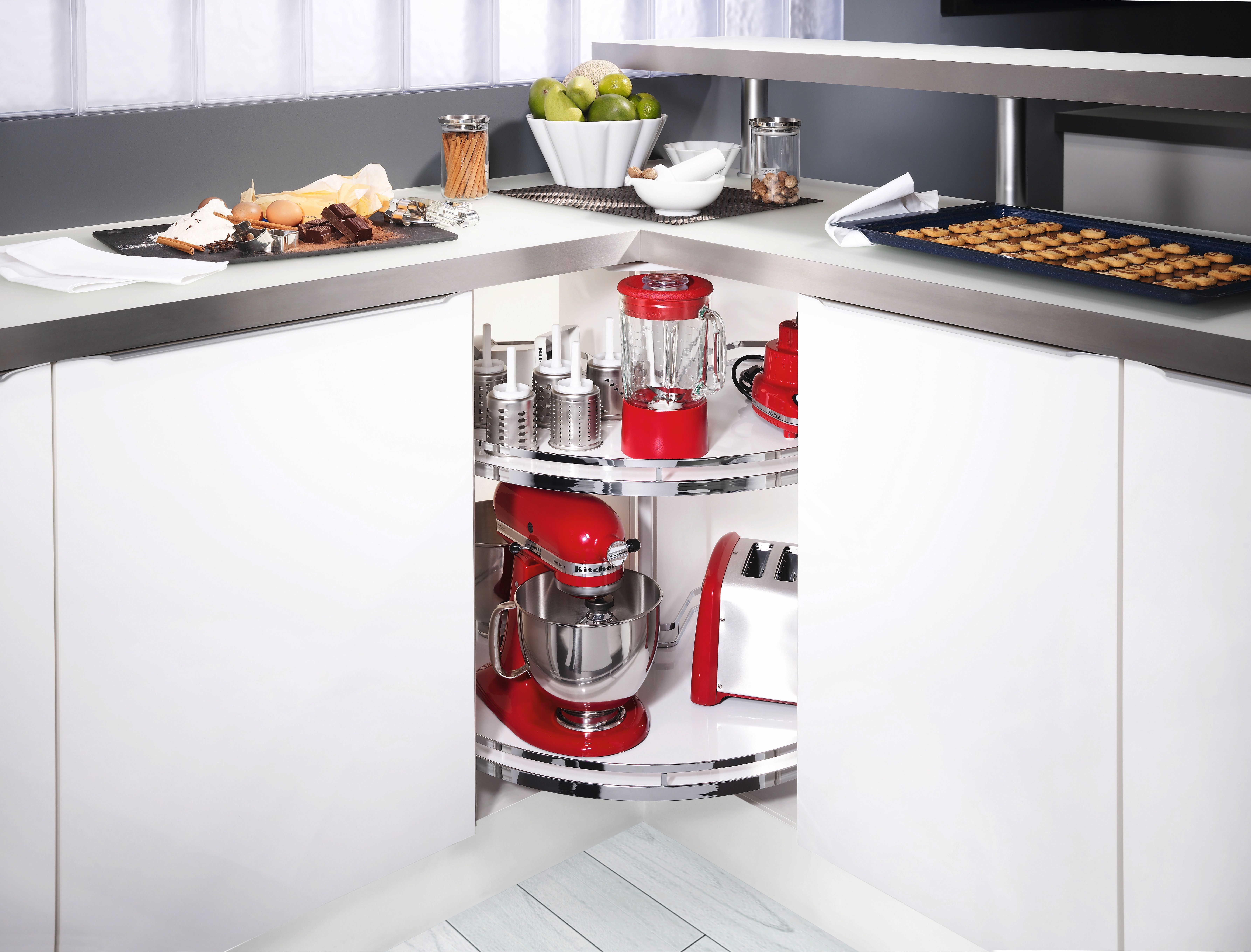 Clever Storage Lazy Susan shelves feature easy to clean non slip ...