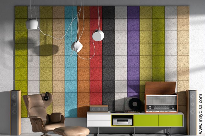 legnomuro, paneles acústicos naturales decorativos para pared by