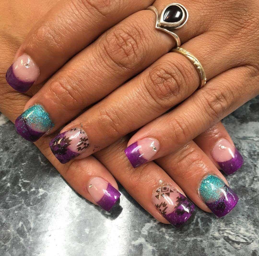 Uñas decoradas Color Purpura +80 diseños | Decoración de Uñas - Nail ...