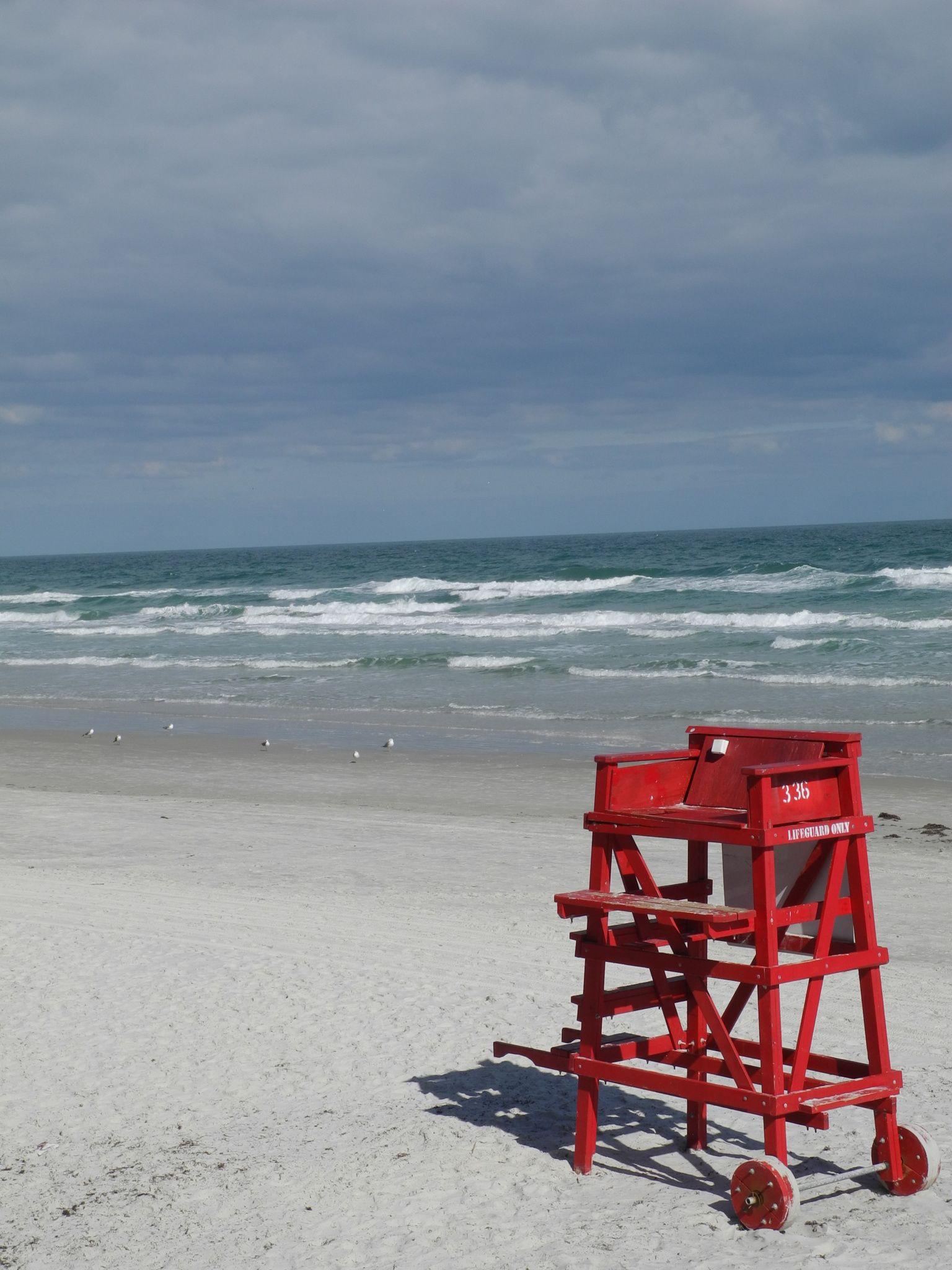 lifeguard chair daytona beach on a cold day photography rh pinterest co uk