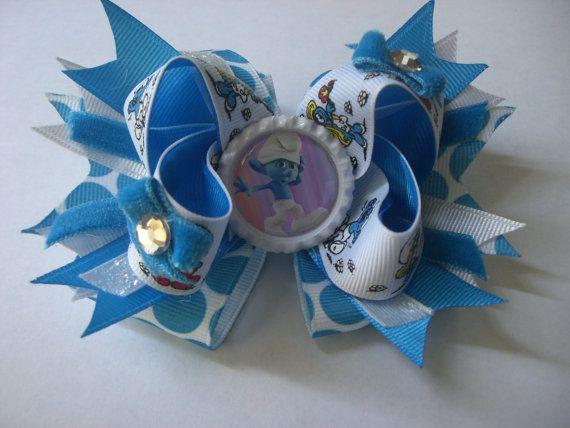 Smurf Bow by AbraBOWdana on Etsy, $10.00
