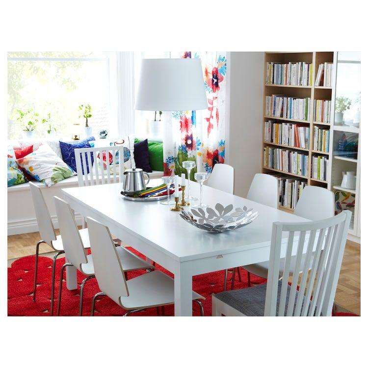 Tavolo Ikea Bjursta Allungabile.Bjursta Tavolo Allungabile Bianco Arredamento Nel 2019