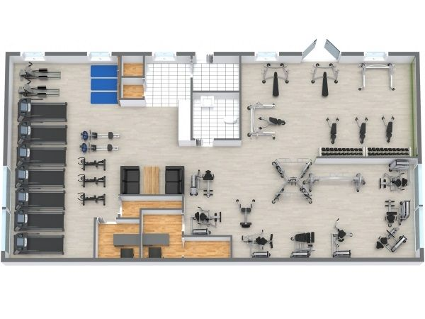Floor plans gym gym design and gym interior for Gym floor plan design