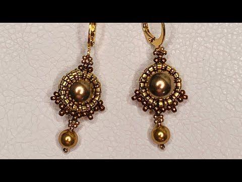 Pendientes de perlas fáciles 💎 #beadingtutorial #withme #openheartedchallenge