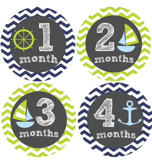 Sea Baby Month Stickers