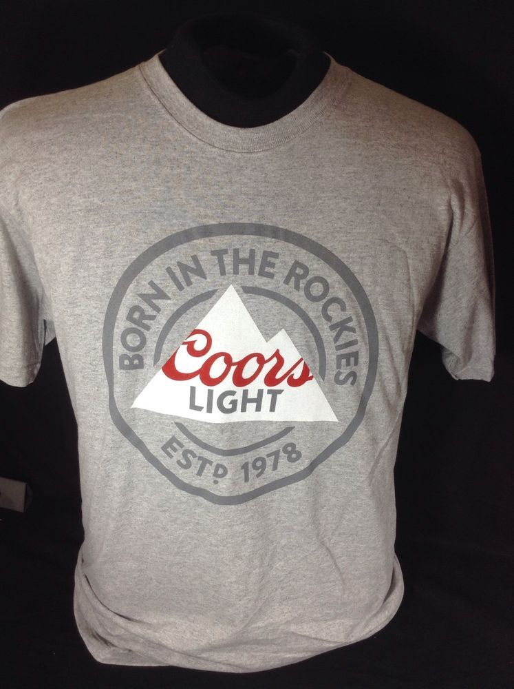 3f02b6f94129b3 Coors Light Beer T-Shirt Size Large Born In The Rockies New!  CoorsLight   GraphicTee  cjbeez  breweriana  beer  mancave