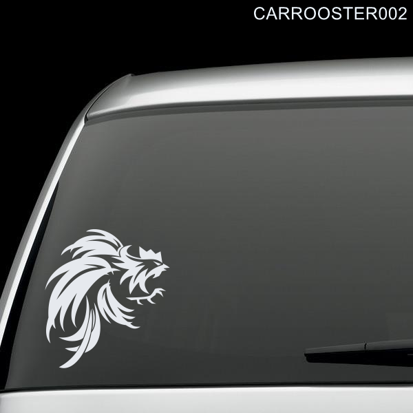 Fighting rooster car window decal