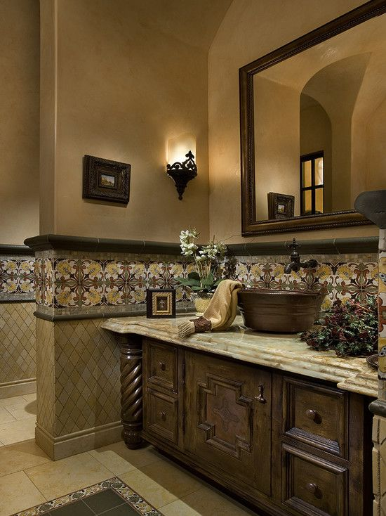 Tuscan Style Bathroom Designs Adorable Mediterranean Design Pictures Remodel Decor And Ideas  Page 78 Review