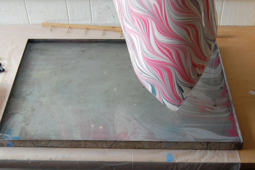 marbling patterns: waved getgel | Natalie Stopka