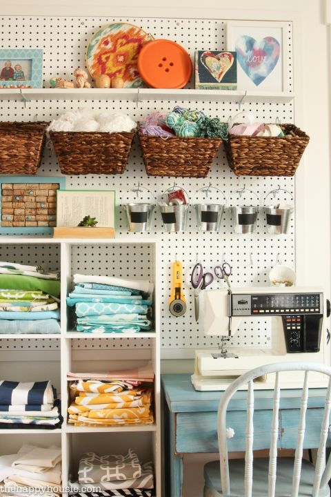 How To Organize A Craft Room Work Space