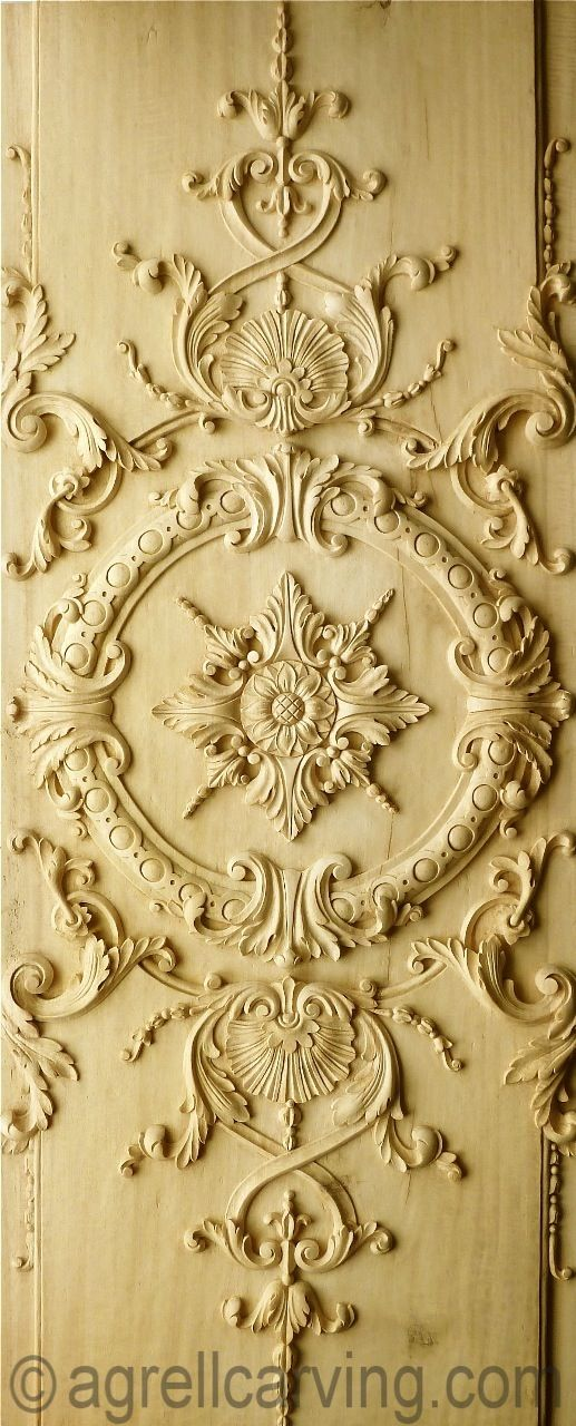 French Louis XIV panel for a door - hand carved in wood for a client ...