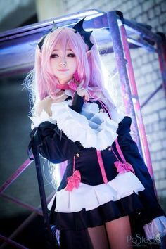 Photo of Kawaii Anime Pink Hair Hostess Mistress Cosplay Outfits