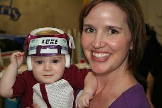 One mom describes her experience having her son's helmet blinged out.