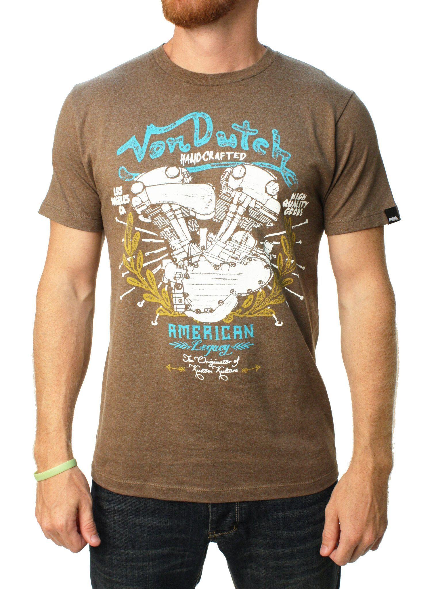 Von Dutch Men's Motor Head Graphic T-Shirt