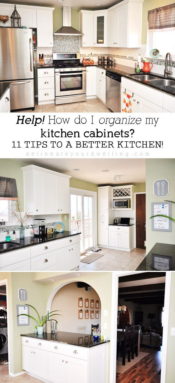 11 Tips for Organizing your Kitchen Cabinets