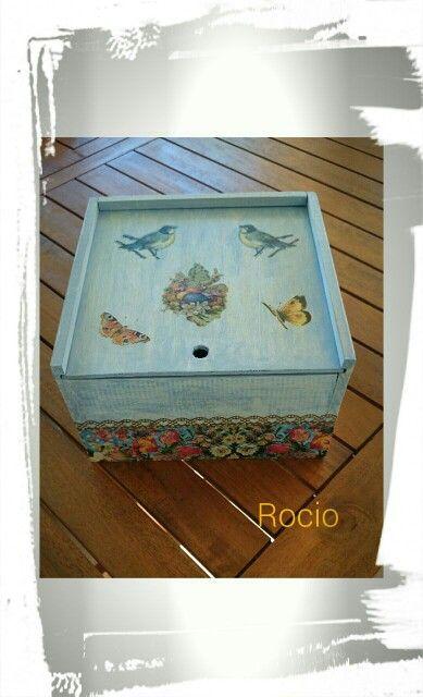 Caja decaupage by Rocío Aznar