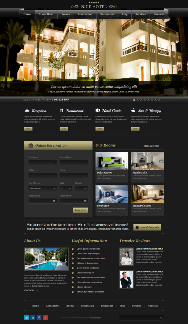 Real Estate Template%0A Nice Hotel  Best Responsive Wordpress Template by Dynamic Template
