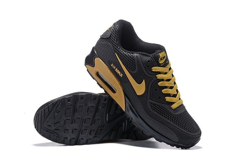 MensWomens Nike Air Max 90 Hyperfuse Sneaker Shoes All Yellow TopDeals