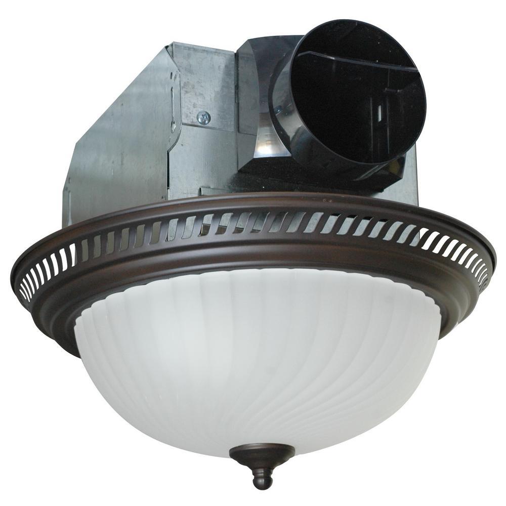decorative bronze 70 cfm ceiling bath fan with light and swirled rh pinterest com
