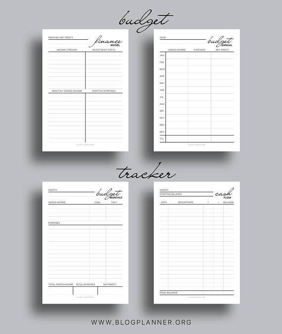 Blog Finances Printable Planner + Budget Excel Spreadsheet - Budget
