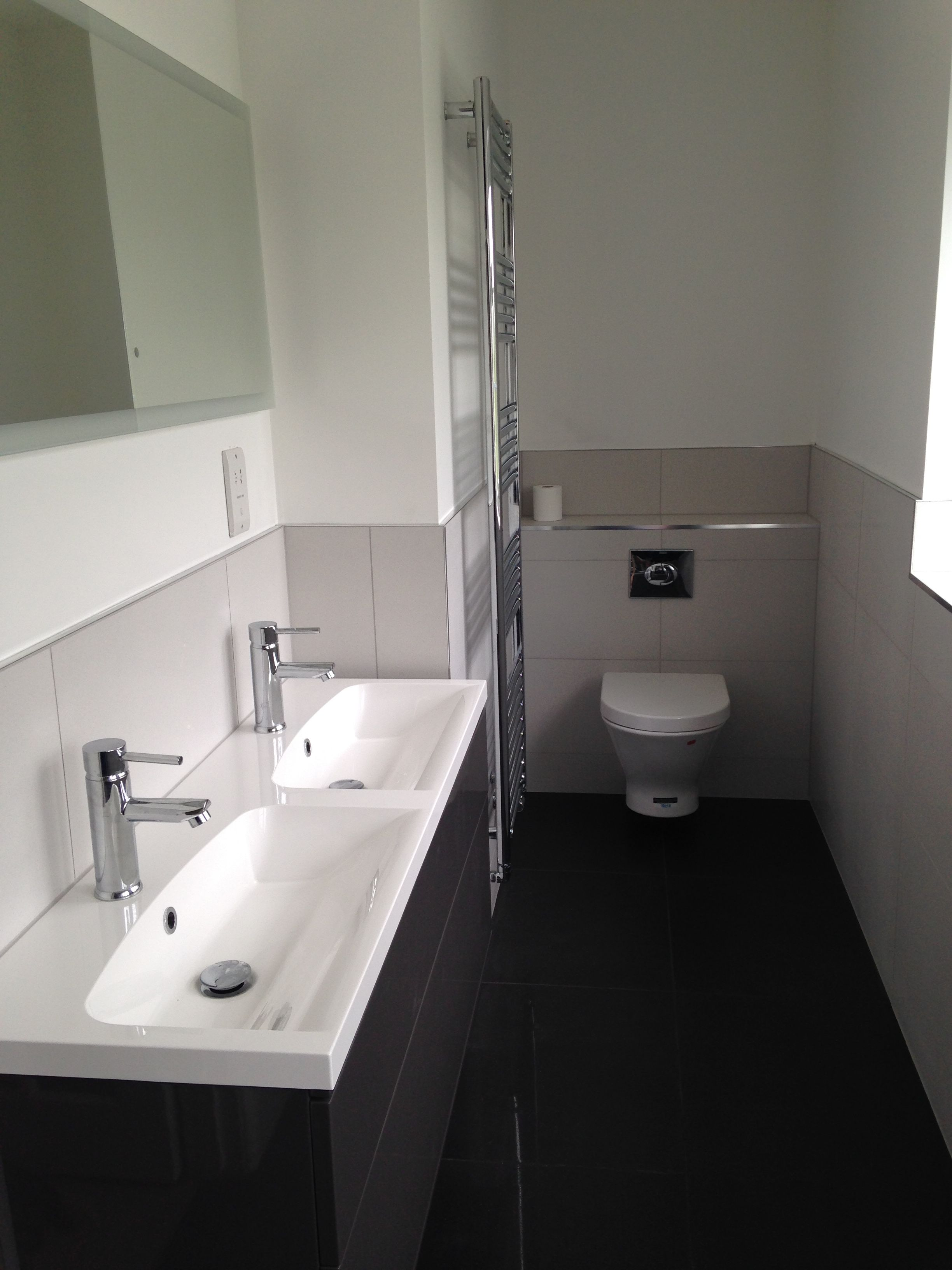 New bathroom with roper Rhodes double sink