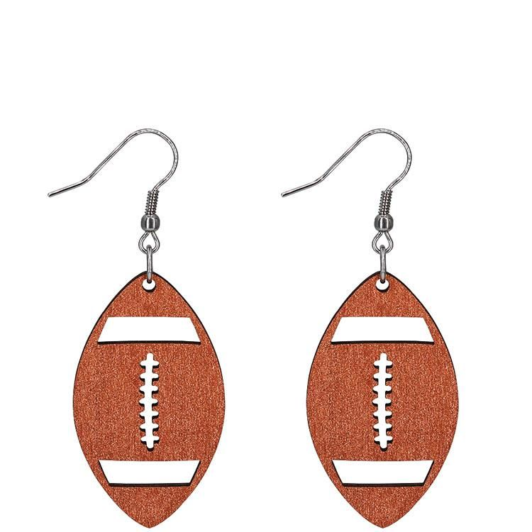 Football Earrings – Copper Metallic / Without Beads