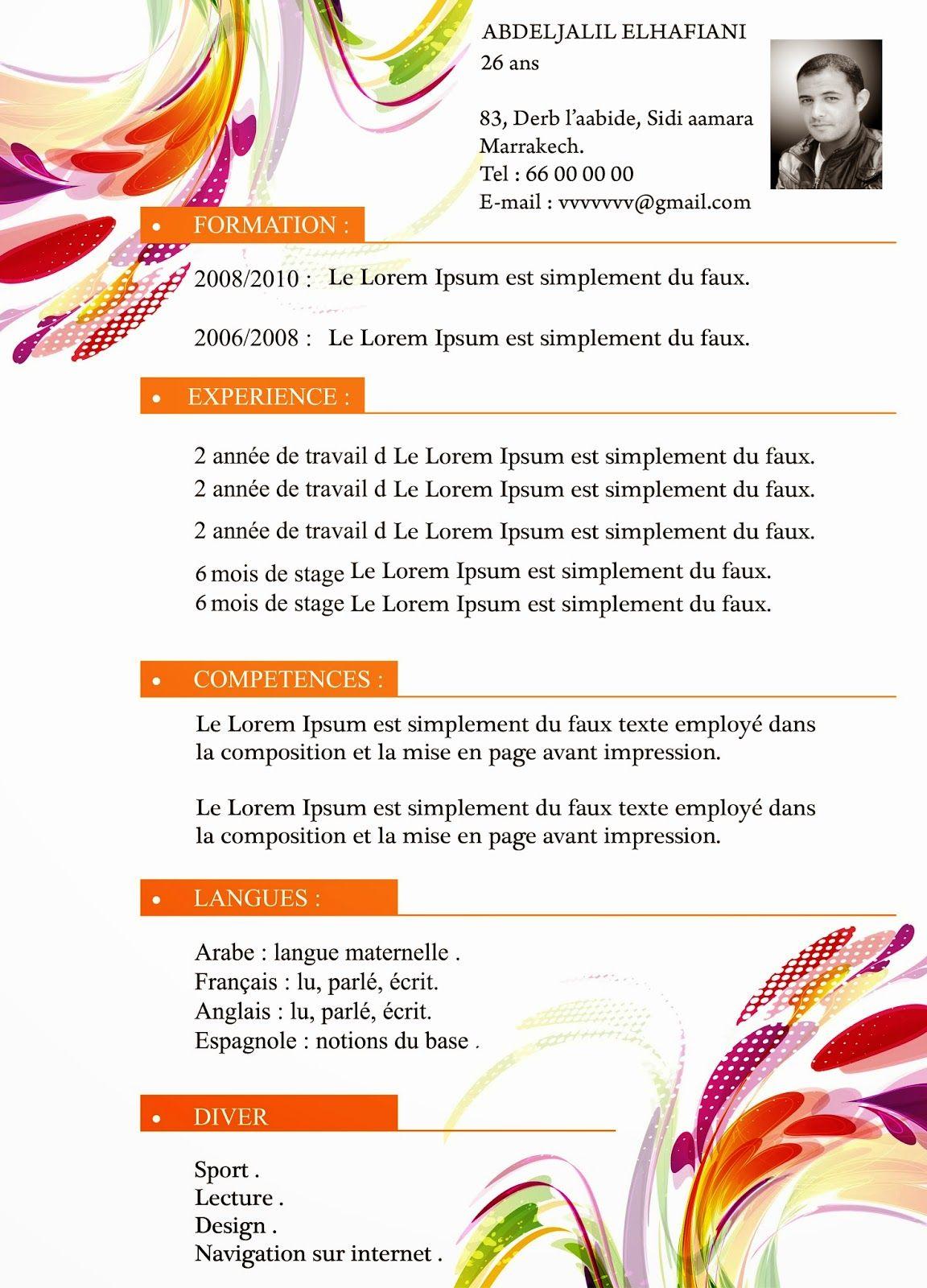 Exemple Gratuit De Cv De Chef Cuisinier Gerant De Restaurant Modele Chef Cuisinier Cuisinier Exemple Cv